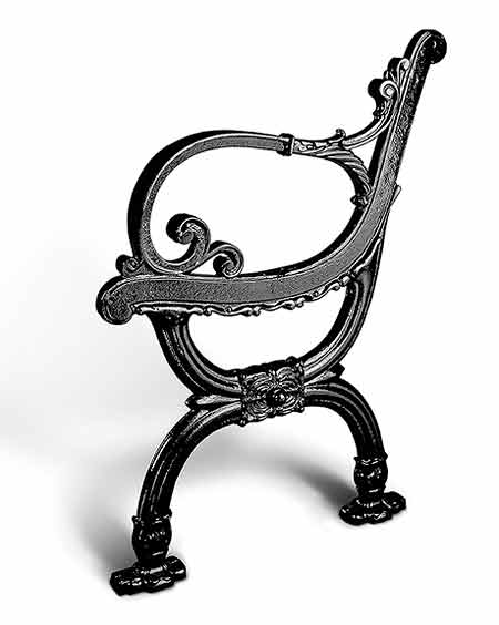 B1876 Victorian Style Park Bench End In Cast Iron Parkbenchend Com